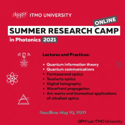 Research Summer Camp in Photonics 2021 ONLINE